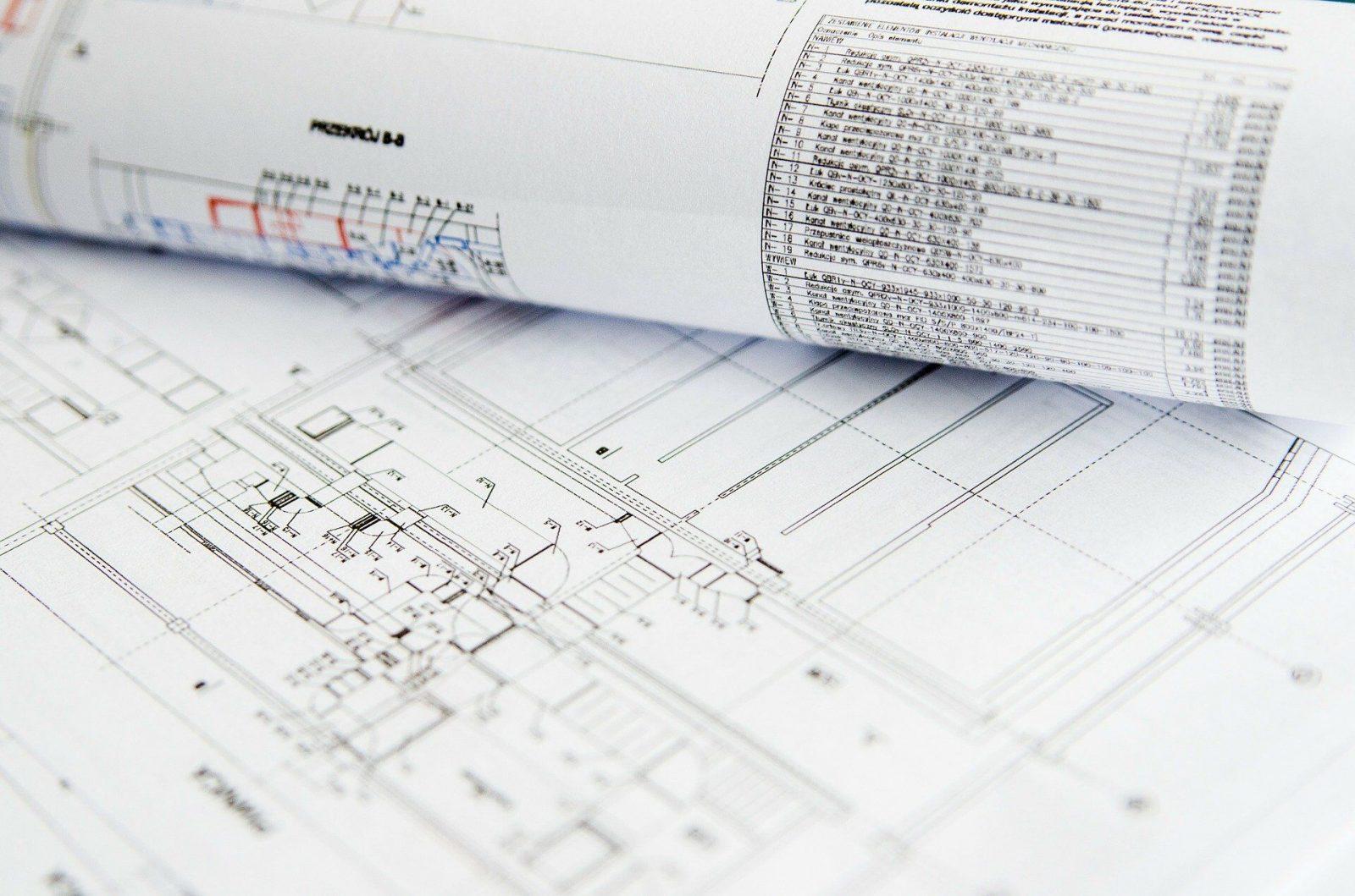 Zeichnung eines Gebäudeplans